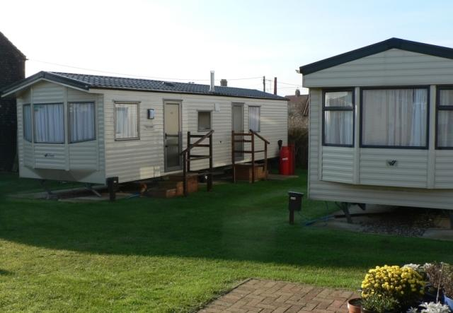 Two of our nine holiday caravans.