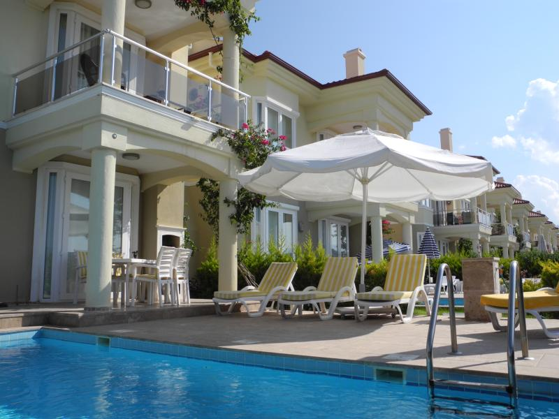 Villa from private pool and patio