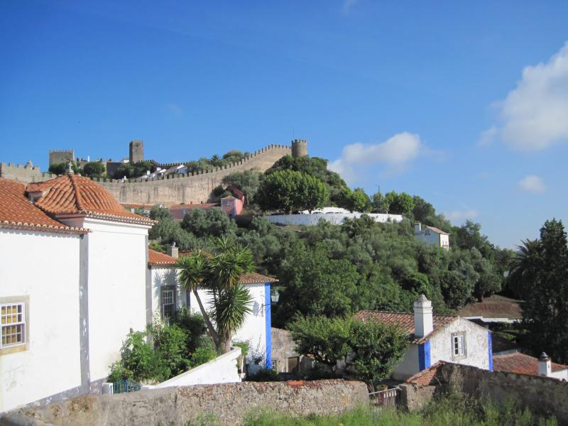 View of Obidos walls from living room