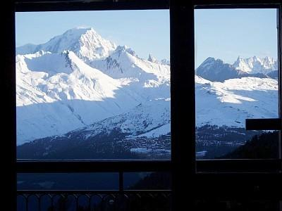 View of Mt Blanc from living room