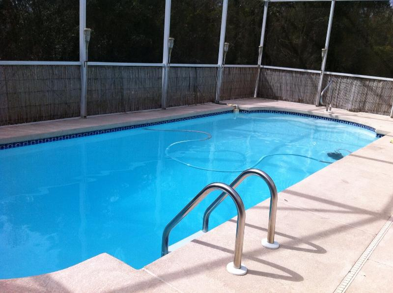 The private swimming pool, heated and relaxing