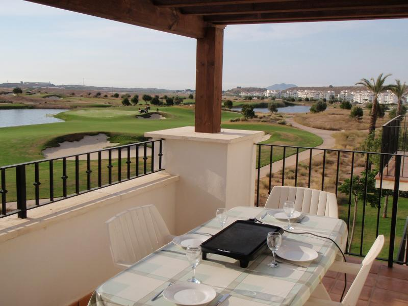 Dine alfresco overlooking our spectacular view