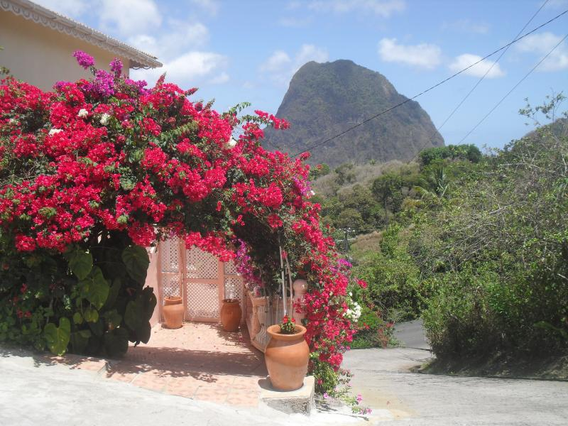 Entrance to Piton Vista Villa Apartment