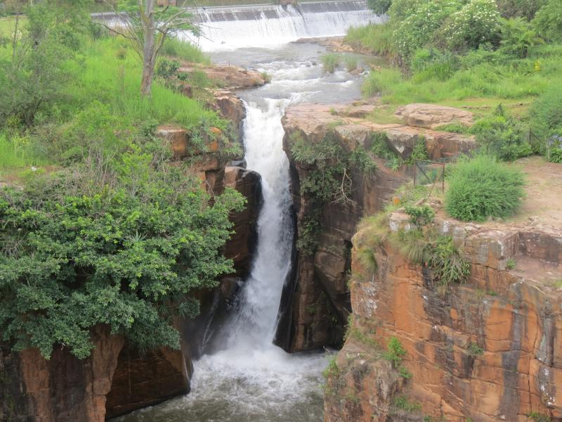 Sabie waterfall right next to Glassbungalows.