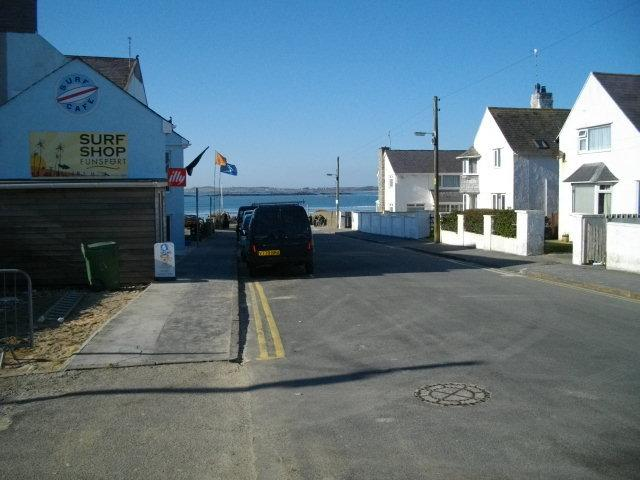 The street outside leading down to beach