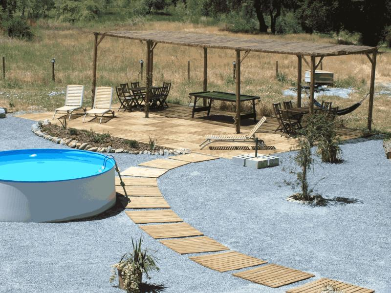 New garden, pool and decking area to relax and enjoy the sun