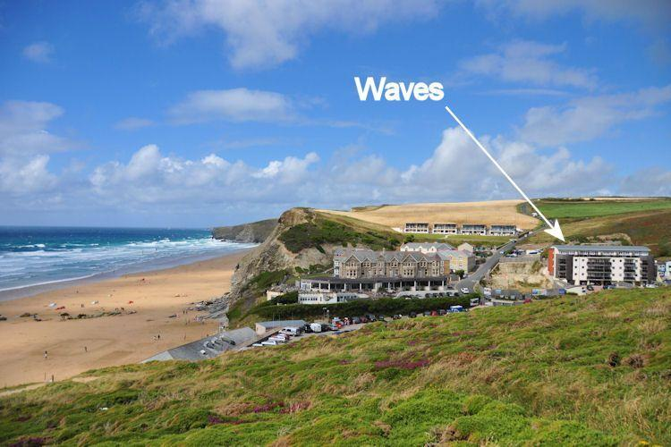 Waves is situated just yards from the beach