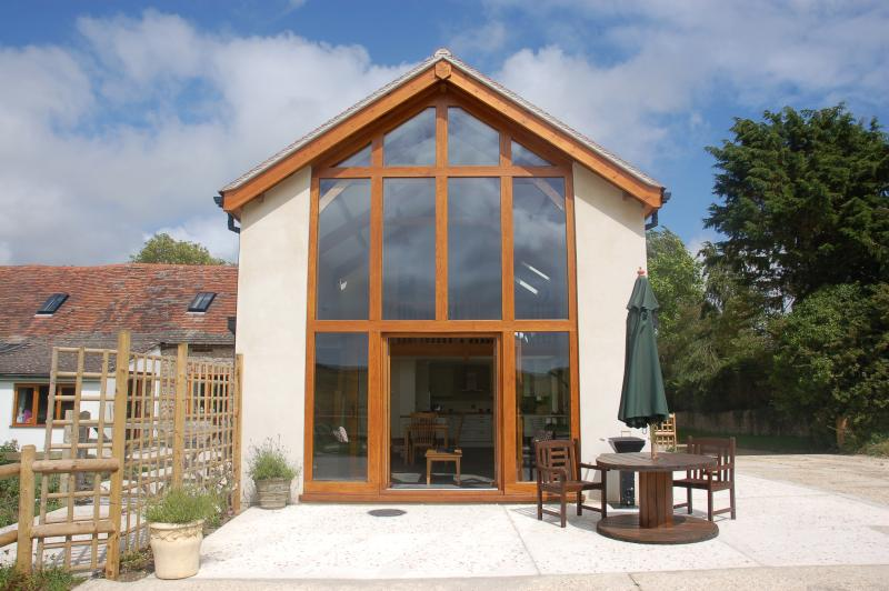 Oak and Glass Gable End