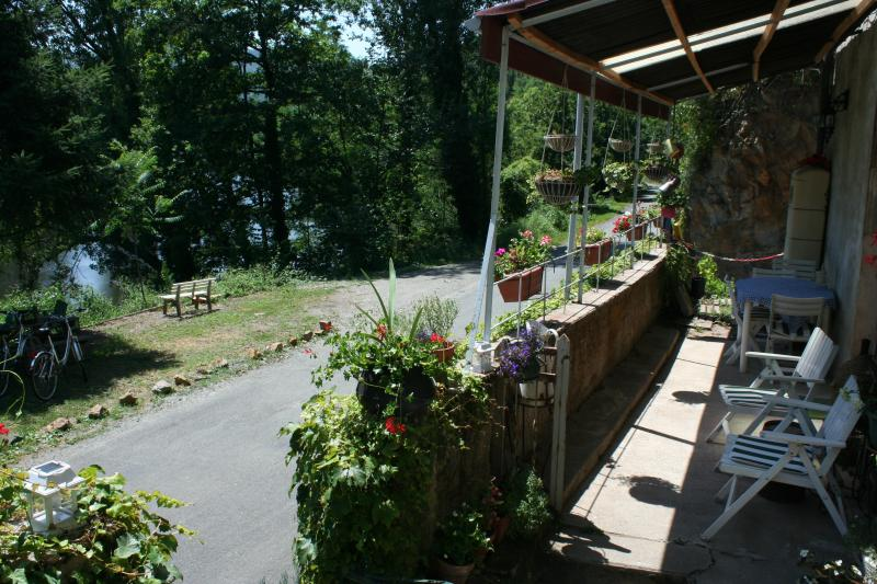 The private terrace overlooking the river.