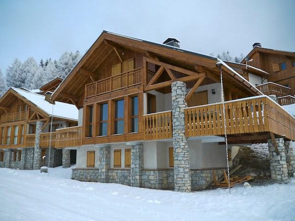 Exterior of chalet from the piste!