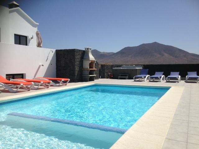 Private heated Pool, with shallow end and lovely mountain views