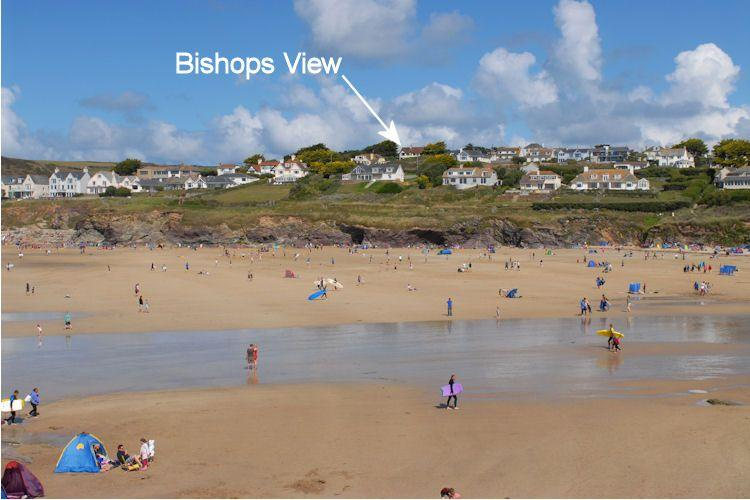 Bishops View is situated above Polzeath Bay