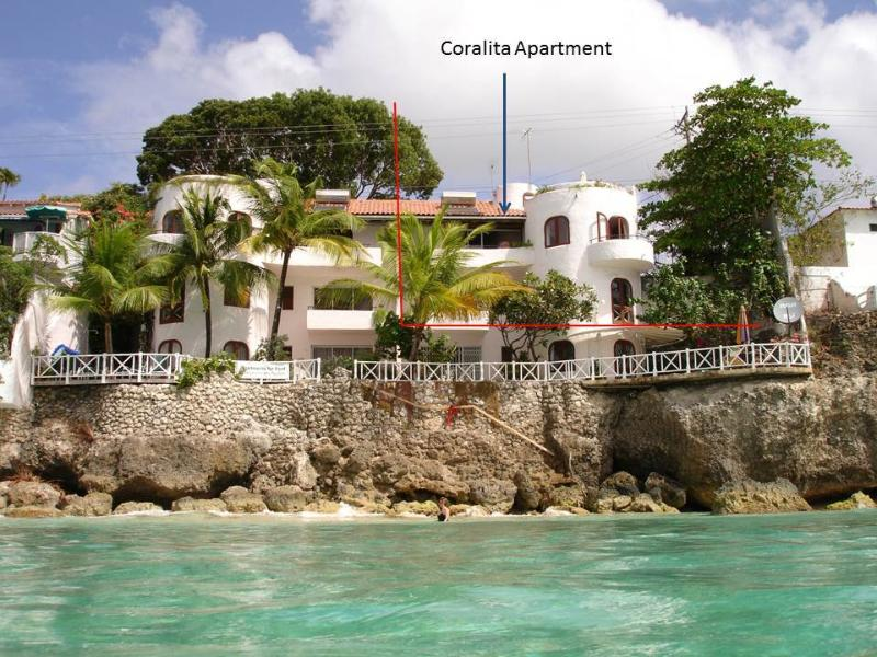 Coralita apartments from the sea