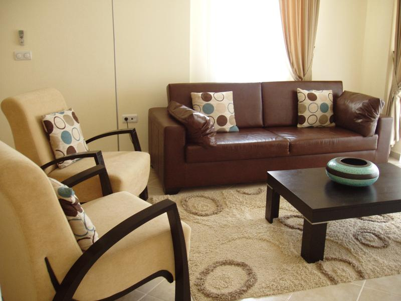 Relax in the comfortable air conditioned lounge area