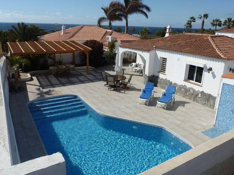 View of the Villa and Heated Swimming Pool