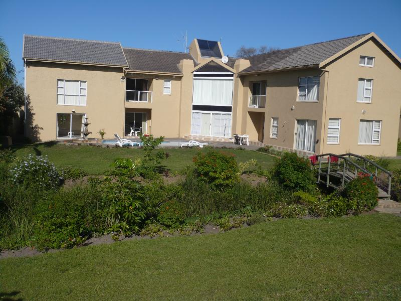 Overall view of property. East Wing on left, North Wing on right