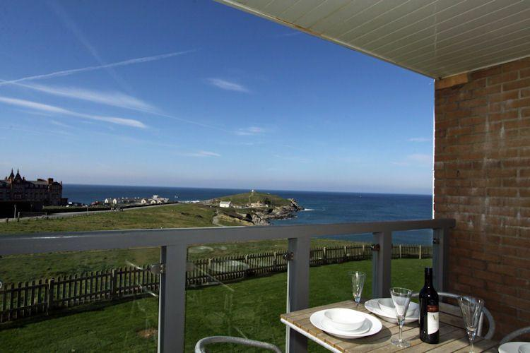 Sea views from the furnished balcony