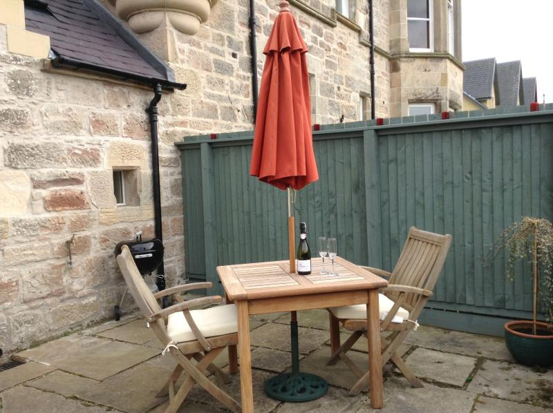 Rear secluded garden where you can dine in a peaceful setting