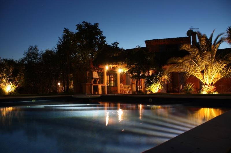 Panoramic Sunset by the pool