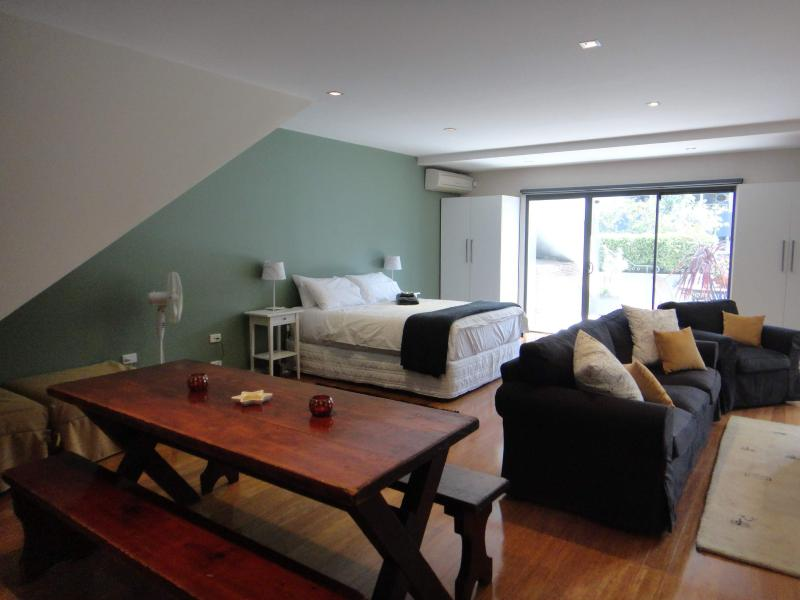 Large immaculate Studio Apartment with plenty of natural light and full blackout blinds for sleeping