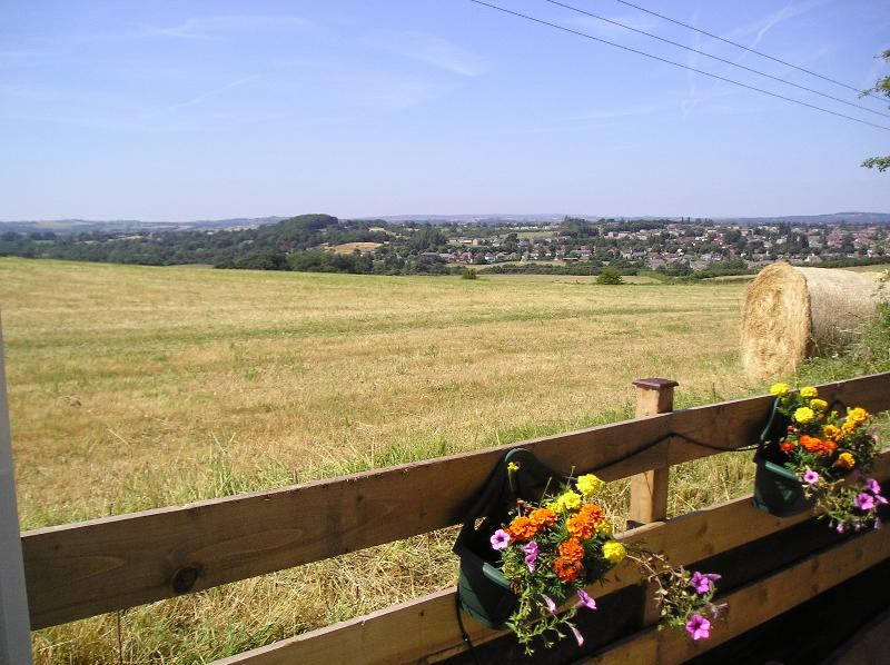 Spectacular Views from spinneytopcottage.com over Rolling Countryside towards Chatsworth,Peak Distri