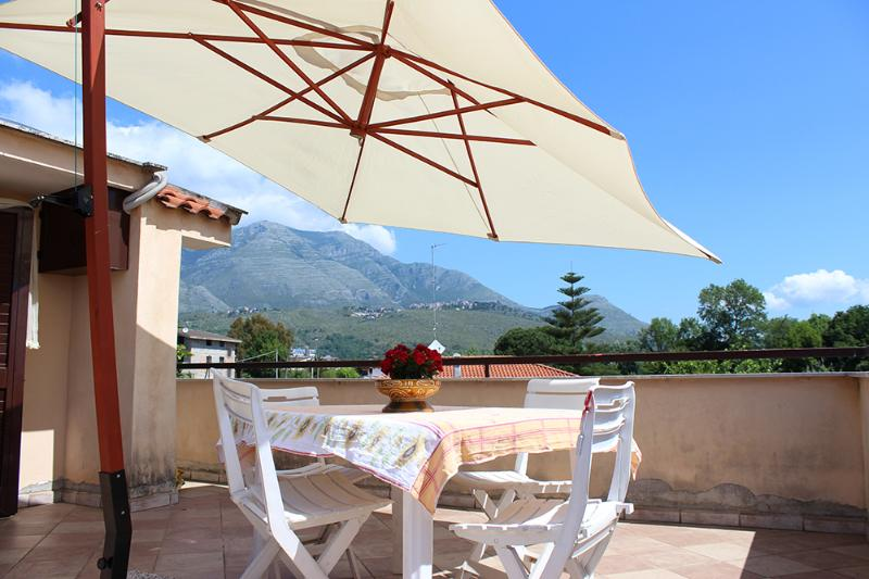 The Terrace with views on Aurunci's Montains