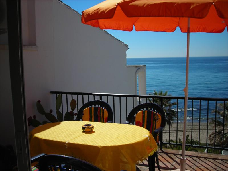 View from the lower terrace to the sea - sometimes you can even see Marocco