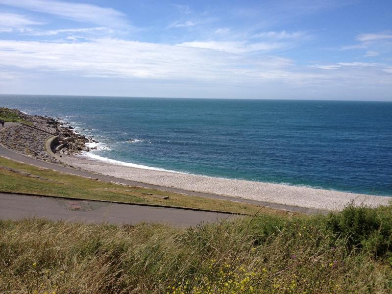 Chesil Cove (five minutes walk) is a great spot for swimming