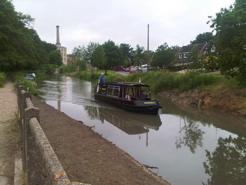 Canal at Ebley with new towpath to Stroud