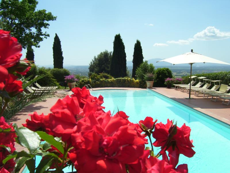 pool with view of the valley