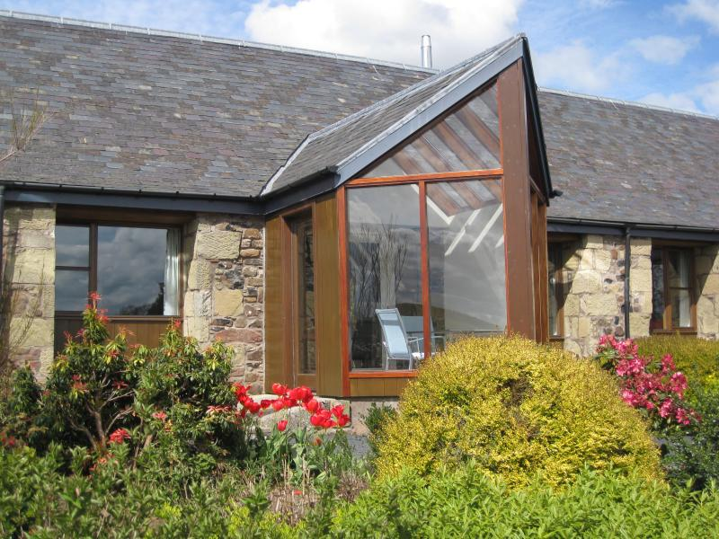 Each cottage has a private south facing conservatory