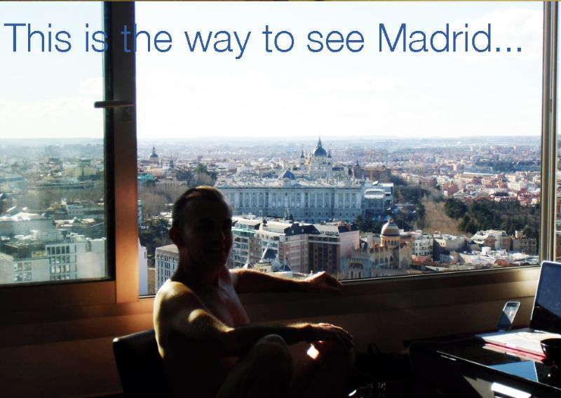Stunning view over the historical heart of Madrid. Photo: January, 2013 Don't you deserve this?