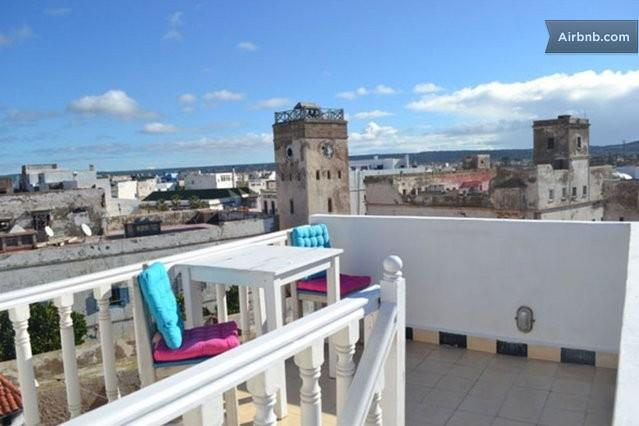 View from the roof terrace across the rooftops