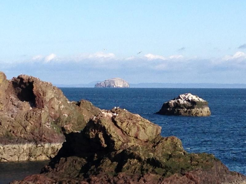 Views to the Bass Rock from the living room