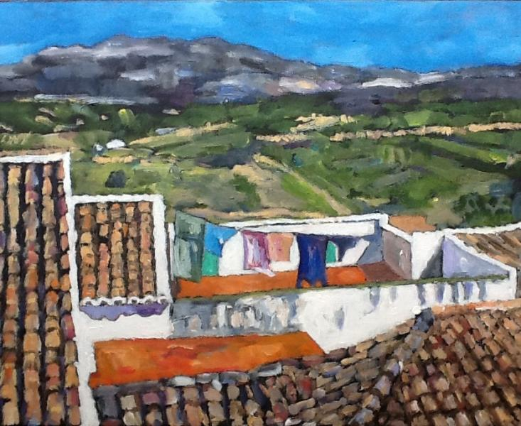 Painting of view from sitting room by local artist