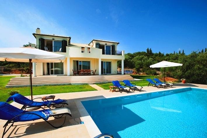 Front view of Villa Gina (Villa for rent in Corfu)