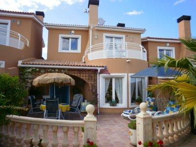 The villa with sun terraces nice and private with all day sun very relaxing and great views