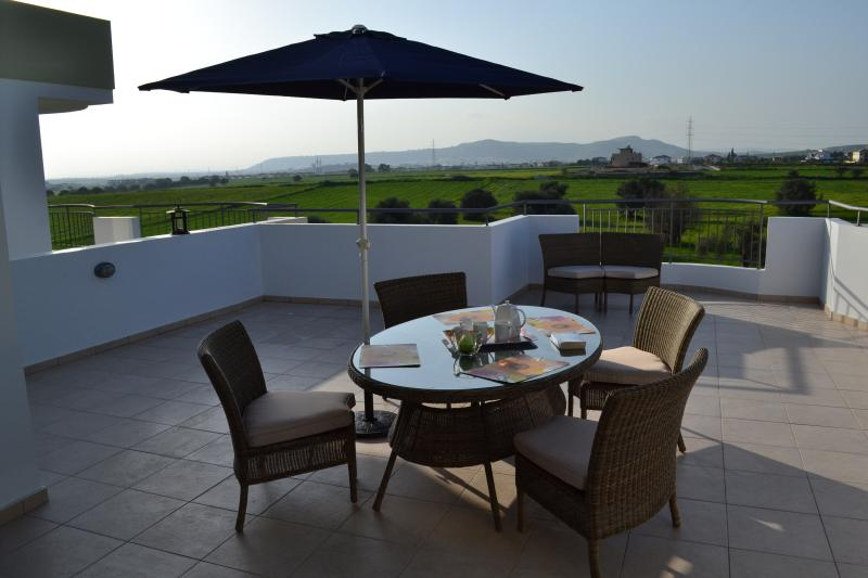 Soak up the sun and enjoy the views from the spacious terrace