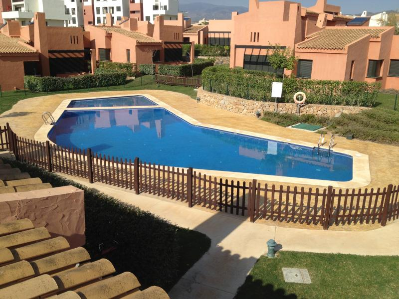 View of pool from roof terrace