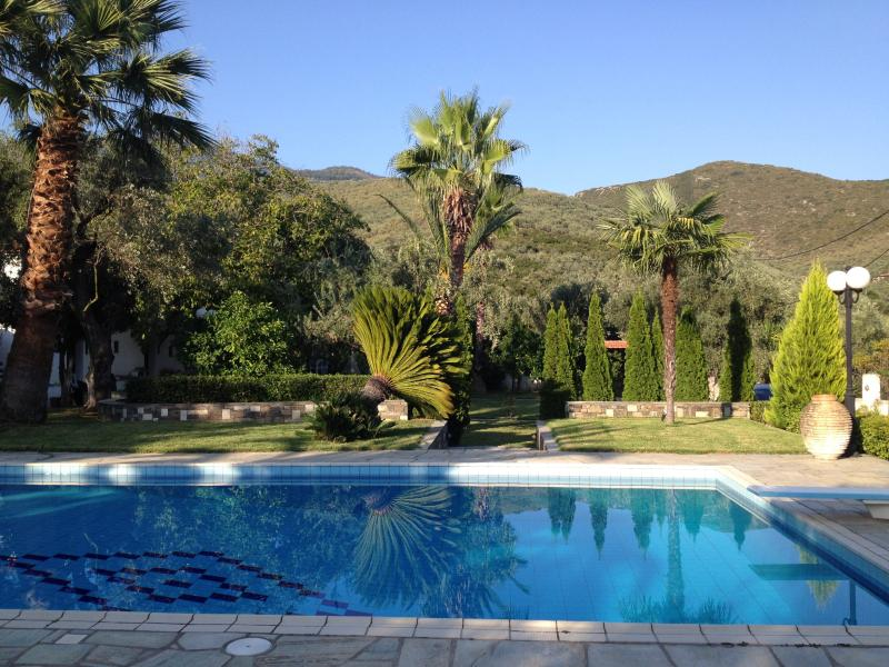 Swimming pool with magnificent mountain views