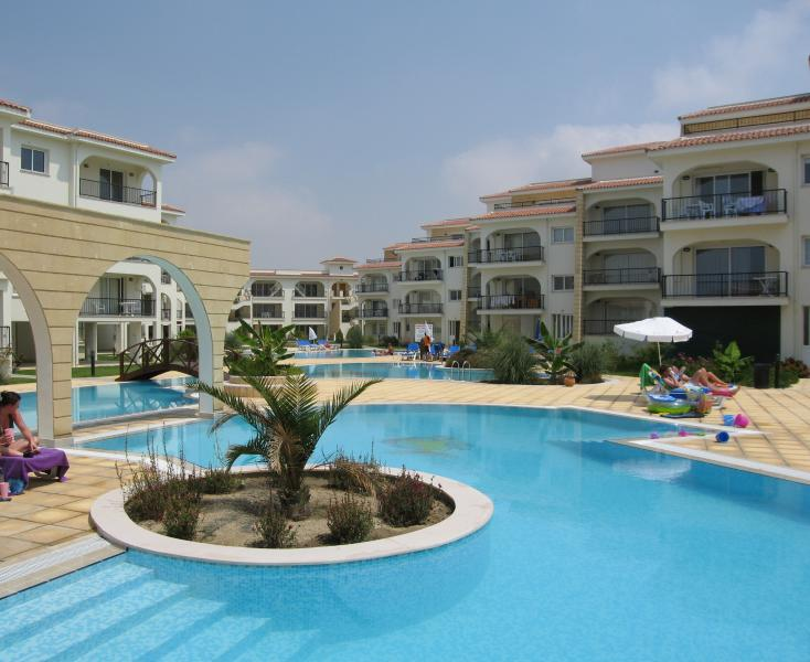 View of Complex Apartments, Pools and Gardens