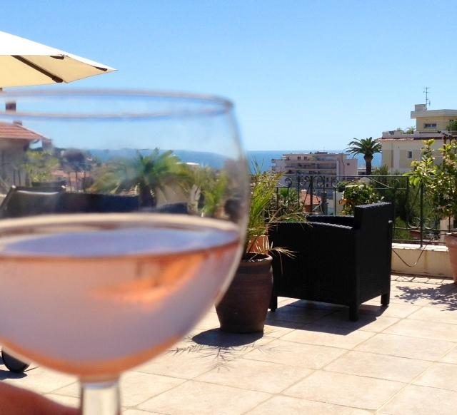 terrace relax with a glass of wine