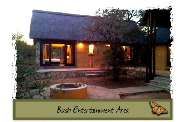 The central courtyard with firepit - pull up the camping chairs and have a braai (BBQ)