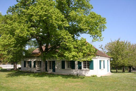 South view of the cottage - under the shade of the Lime Trees