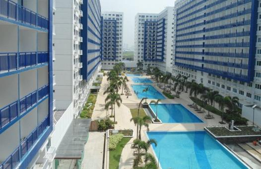 view of Sea Residences' pools