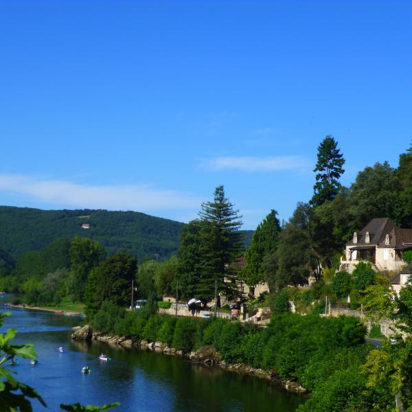 The house perched above the Dordogne with panoramic views of the valley - a perfect vantage point.