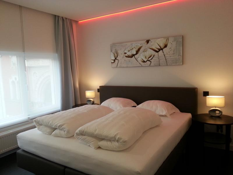 Bedroom with super king sized bed for sweet dreams and a colourful deep sleep.