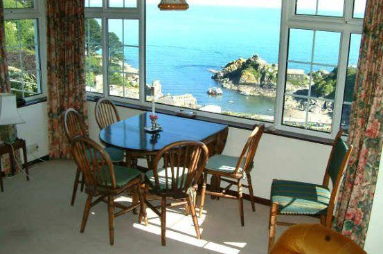 Stunning sea and harbour views from the dining area, garden and two bedrooms