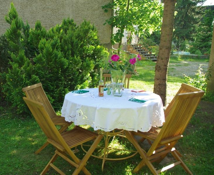 The lovely garden where you can sit in sun or shade, relax and enjoy.