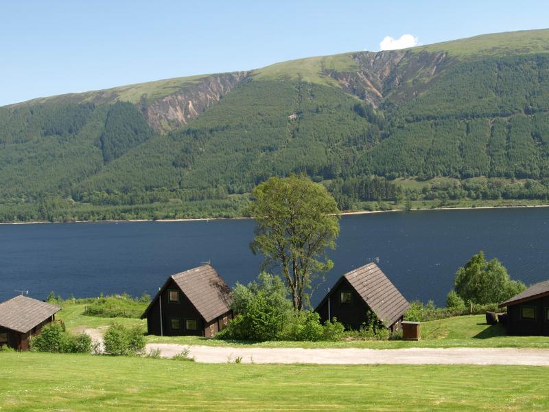 Breath Takings Views at Thistle Lodge across Loch Lochy & the mountain range opposite